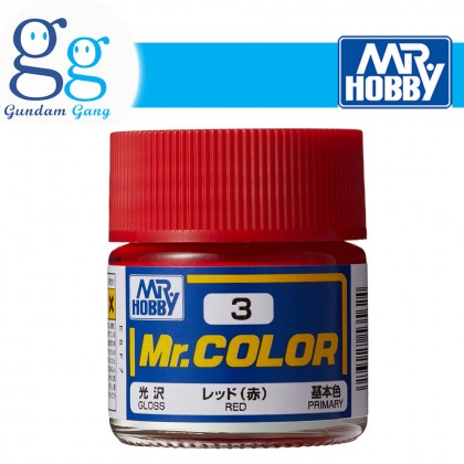 [Gundam Gang] Mr. Color Primary Series C3 C4 C5 C6 C7 C51 C59 C111 C112 10ml (Deliver to West Malaysia Only)